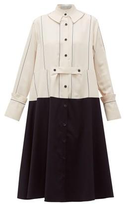 Palmer Harding Palmer//Harding Palmer//harding - Rise Oversized Panelled Shirtdress - Womens - Cream Multi