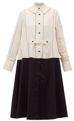 Palmer Harding Palmer//harding - Rise Oversized Panelled Shirtdress - Womens - Cream Multi