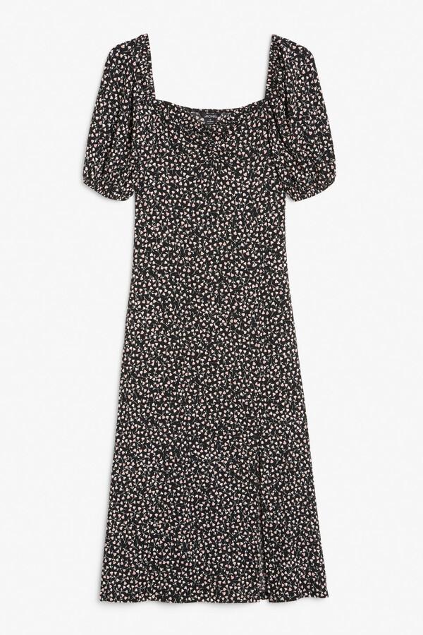 Thumbnail for your product : Monki Sweetheart neck midi dress