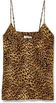 Anine Bing Gwyneth Leopard-print Washed-silk Camisole - Leopard print