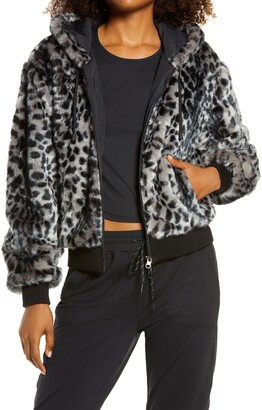 Blanc Noir Faux Fur Hooded Jacket