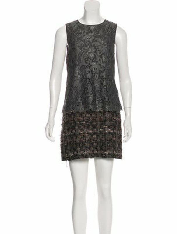 Dolce & Gabbana Sleeveless Mini Dress Grey