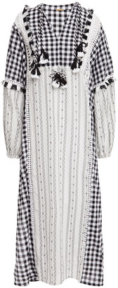 Dodo Bar Or Miguel Broderie Anglaise-trimmed Embroidered Cotton-jacquard Kaftan