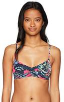 Roxy Women's Salty Athletic Swimsuit Top