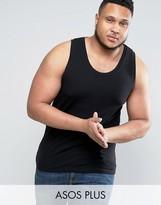Asos PLUS Muscle Tank In Black In Black