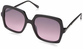 Laundry by Design Women's Ld266 Ox Non-Polarized Iridium Rectangular Sunglasses Black 65 mm