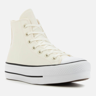 Converse Chuck Taylor All Star Anodized Metals Leather Lift Hi-Top Trainers