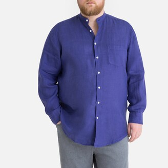 La Redoute Collections Plus Linen Long-Sleeved Shirt