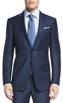 Ermenegildo Zegna Mini-Stripe Two-Piece Wool Suit, Navy
