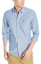 Lacoste Men's Long Sleeve Striped Poplin Regular Fit Woven Shirt