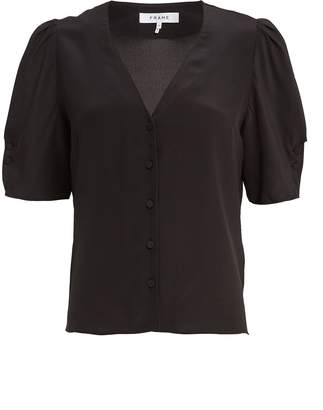 Frame Olivia Silk Button Down Shirt