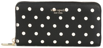 Kate Spade Polka-Dot Print Continental Wallet