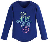 Under Armour Girls 2-6x Do All Things with Heart Tee