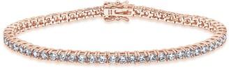 Diamonique Sterling 6.50 cttw Round Tennis Bracelet