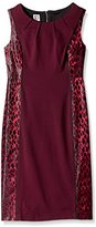 Anne Klein Women's Shiny Leopard Jacquard Sheath Dress