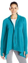 Cuddl Duds Women's Fleecewear with Stretch Hooded Long Sleeve Wrap