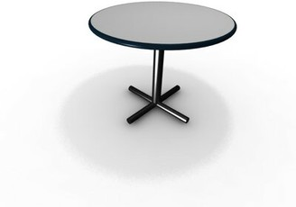 """Forde Round Gathering Table Symple Stuff Top Finish: Frosty White, Size: 29"""" H x 60"""" W x 60"""" D"""