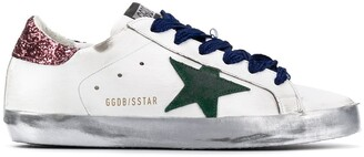 Golden Goose Superstar glitter detail sneakers