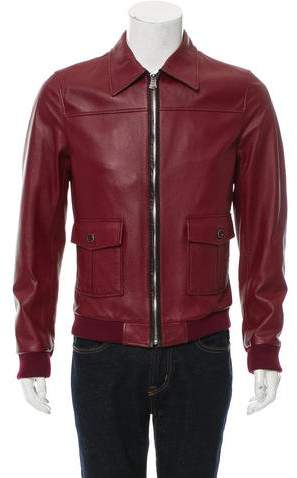 Dolce & Gabbana Leather Field Jacket w/ Tags
