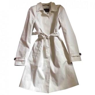 Prada White Cotton Trench Coat for Women