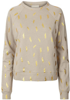 LOLLYS LAUNDRY Gold Featherd Sweatshirt
