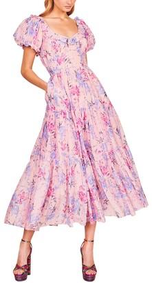 LoveShackFancy Emory Silk-Blend Dress