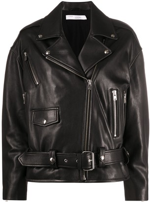 IRO Lambskin Zip-Up Coat