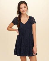 Hollister V-neck Lace Skater Dress