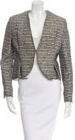 Balenciaga Tweed Collarless Jacket
