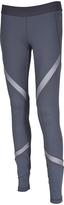 Therapy Ash Gray Power Mesh-Panel Performance Leggings