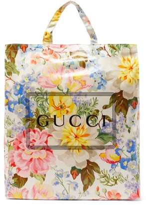 Gucci Floral-print Coated-cotton Tote Bag - Multi