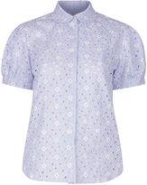 Shrimps Pale Blue Cut-Out Eugenie Shirt