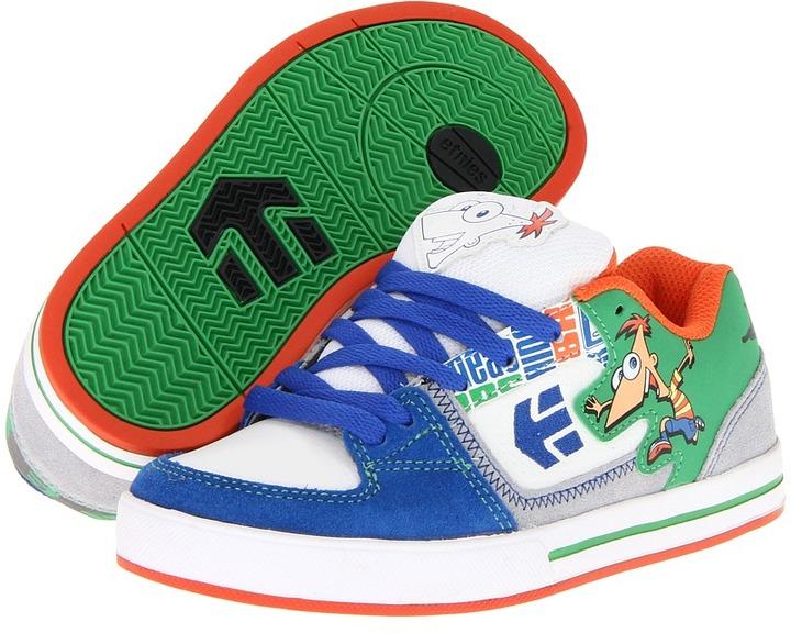 Etnies Disney Ronin (Toddler/Youth) (White/Blue/Green) - Footwear