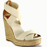 Tory Burch - Adonis - Ivory Canvas Espadrille Wedge Sandal