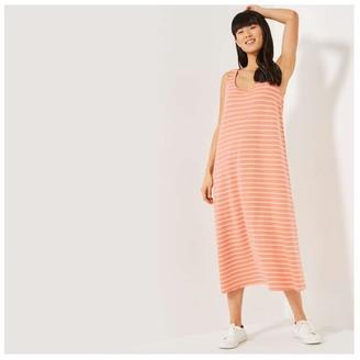 Joe Fresh Women's Reversible Sleeveless Maxi Dress, Dusty Orange (Size XS)