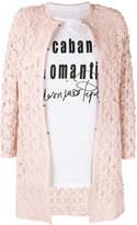 Caban Romantic flower patch coat