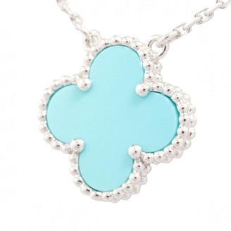Van Cleef & Arpels Alhambra Blue White gold Necklaces
