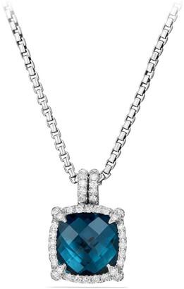 David Yurman Chatelaine Small Pave Bezel Pendant Necklace with Diamonds