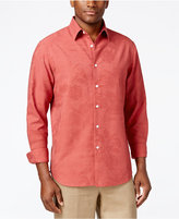 Tasso Elba Men's Silk Blend Print Long-Sleeve Shirt, Only at Macy's