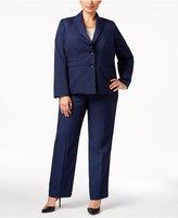 Le Suit Plus Size Mélange Pantsuit