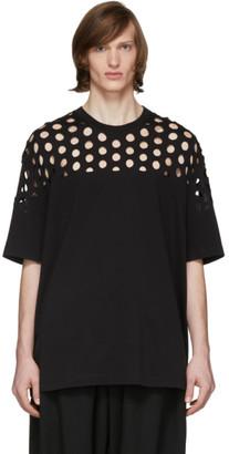 Maison Margiela Black Oversized Cut-Out T-Shirt