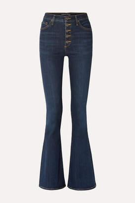 Veronica Beard Beverly High-rise Flared Jeans - Dark denim