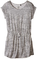 Ikks Print Jersey Dress with Drawstring Waistband & Short Sleeves (Big Kids)