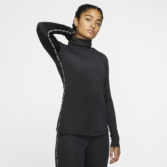 Nike Womens Long-Sleeve Metallic Top Pro Warm