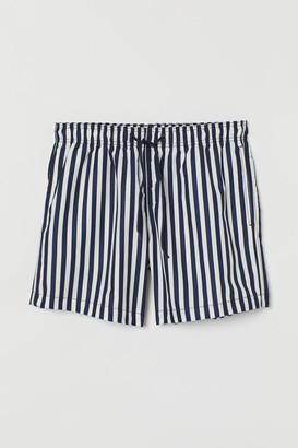H&M Printed Swim Shorts - Blue