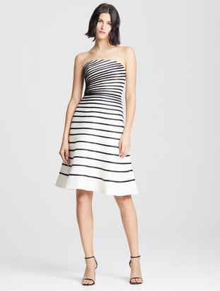 Halston Colorblock Strip Dress