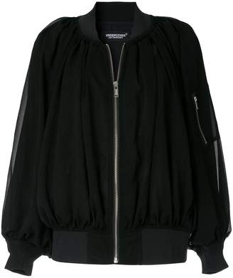 Undercover pleated bomber jacket