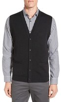 Men's Big & Tall John W. Nordstrom V-Neck Wool Button Front Sweater Vest