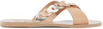 Ancient Greek Sandals Thais Links Leather Slides