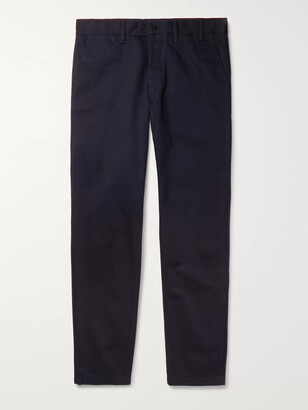 Norse Projects Aros Heavy Tapered Cotton-Twill Chinos - Men - Blue